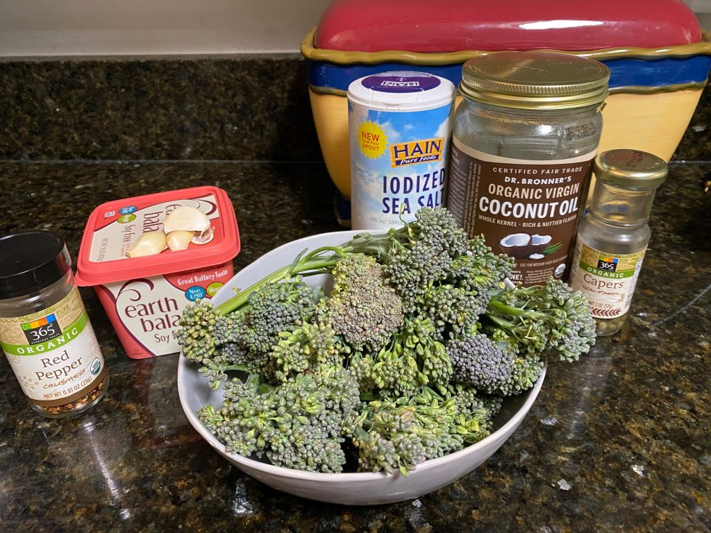ingredients for broccolini recipe