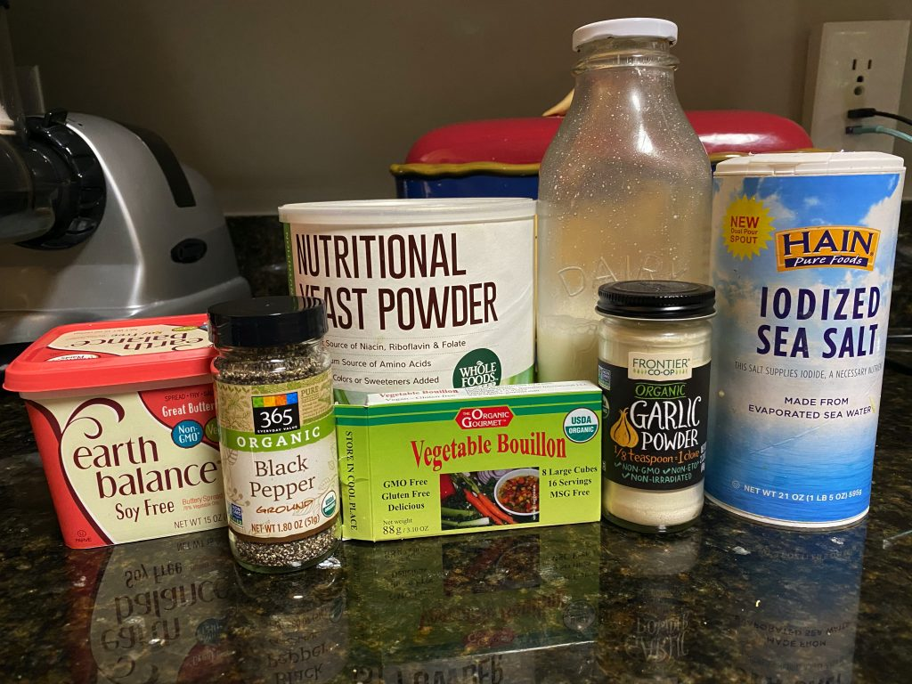 ingredients needed for vegan mashed potatoes