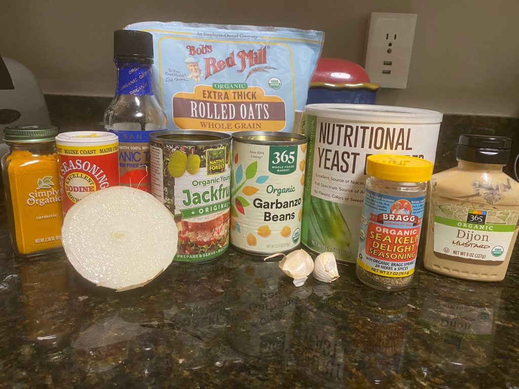 jackfruit crablike cake ingredients