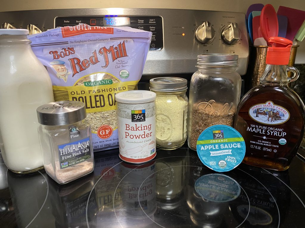 Ingredients needed for gluten free cornbread
