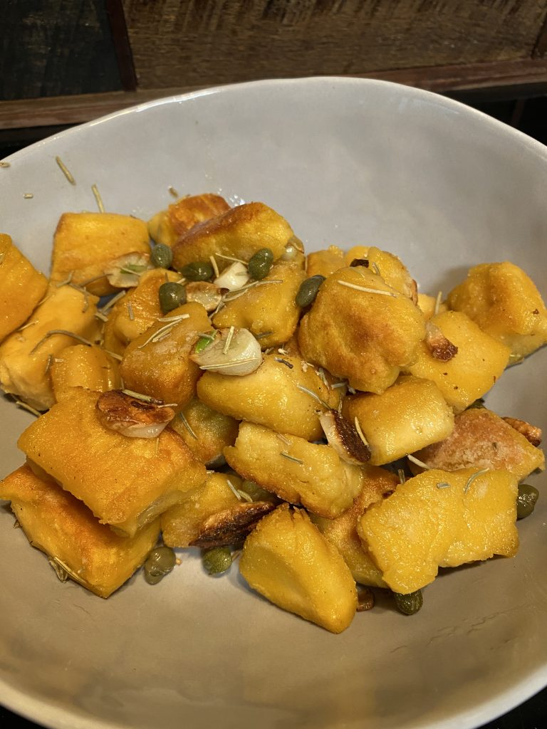 Cauliflower sweet potato gnocchi
